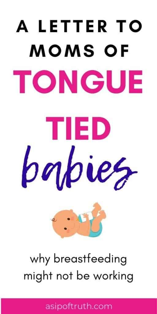 Caring for newborns? Sooo hard. Breastfeeding a tongue tied baby? Brutal. Here are some signs you have a tongue tied baby, information about the procedure for tongue tied babies, and tongue tie symptoms for both baby and mom. I was there, friend, so I understand what you're going through. #tonguetiedbaby #liptiedbaby #breastfeedingstuggles #tonguetie