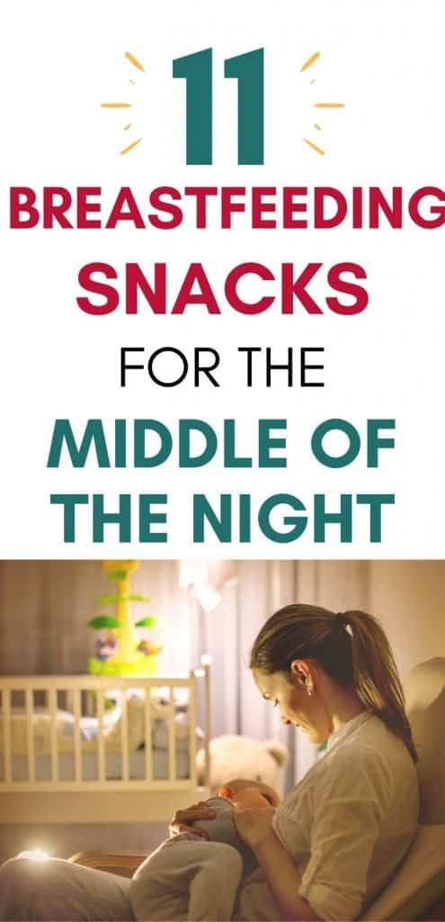 Looking for healthy breastfeeding snacks for the middle of the night in *the middle of the night*? Yep, I've been there, too. Here are 11 late-night snacks for breastfeeding moms. #breastfeeding #middleofthenightfeedings #breastfeedingsnacks