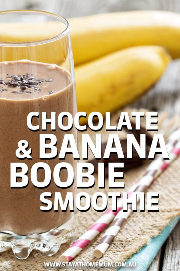 chocolate and banana boobie smoothie